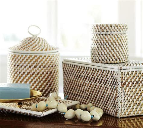 wicker bathroom accessories woven bath accessories
