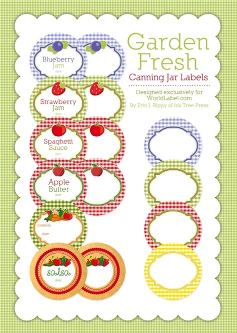 Canning Jar Labels Template canning label templates worldlabel