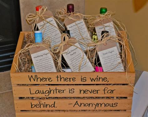 Wedding Gift Wine For Occasions wine basket bridal shower gift printable poem gift tags