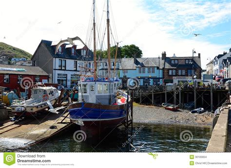 small boat licence uk fishing boat at mallaig harbour scotland editorial stock
