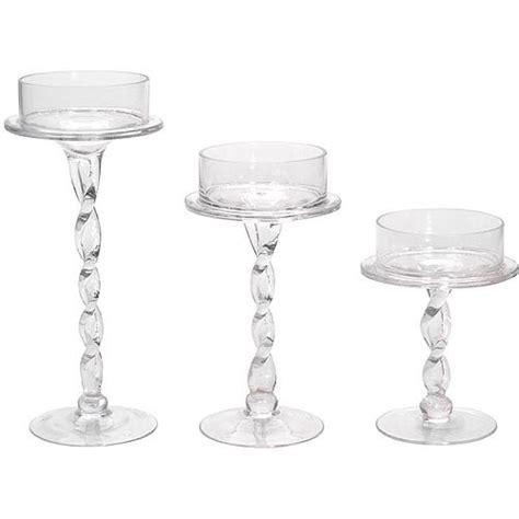 glass pillar candle holders 6 quot glass pillar candle holder walmart