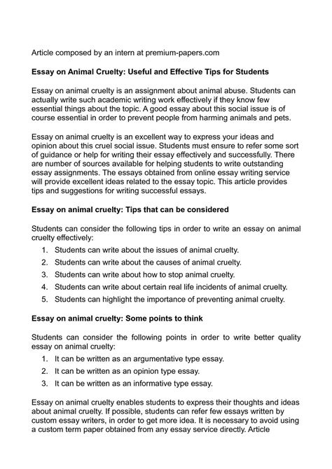 animal cruelty expository essay sample academichelp net
