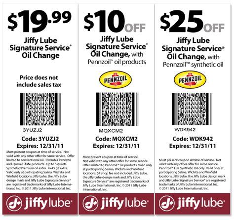 Jiffy Lube Coupons Printable
