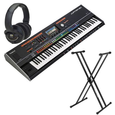 Keyboard Roland 3 Jutaan roland jupiter 80 synthesiser with stand and krk headphones at gear4music