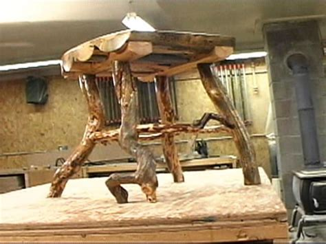 rustic log side table hgtv