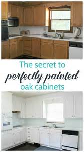 how do you paint kitchen cabinets white painting oak cabinets white an amazing transformation