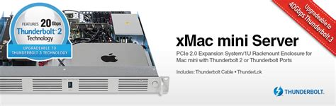 Mac Mini Server sonnet xmac mini server thunderbolt pcie 1u enclosure