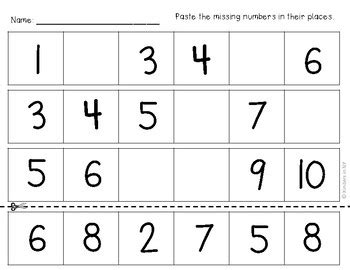 sequence numbers 1 10 printable missing numbers in a sequence 1 10 and 10 20 no frills