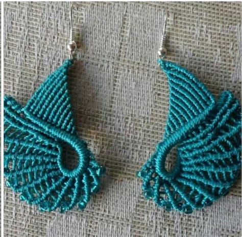 Macrame Knitting - orecchini mikromakram 233