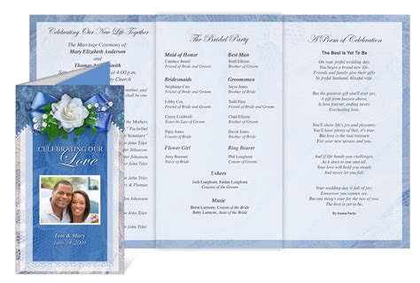 Celebration Of Life Store Printable Wedding Programs With Templates Free Celebration Of Program Template
