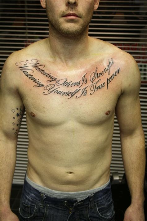 script chest tattoo chest pieces script lettering