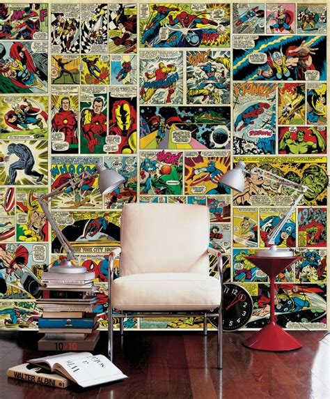 comic wall mural avenger comic wall mural photo wallpaper photowall if these walls could talk