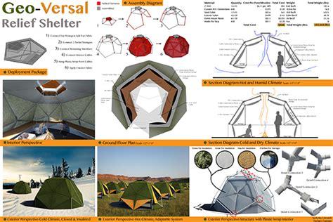 design brief of an emergency shelter geo versal relief shelter design viii on behance