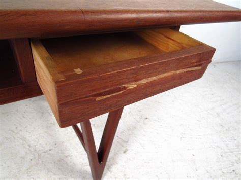 modern teak coffee table with two drawers by e w