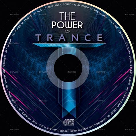 cd dvd templates the power of trance cd dvd template by mcgraphics