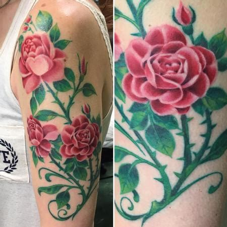 rose bush tattoo jacks studio
