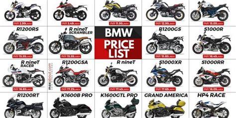 bmw motosiklet fiyat listesi  motosiklet cesitleri