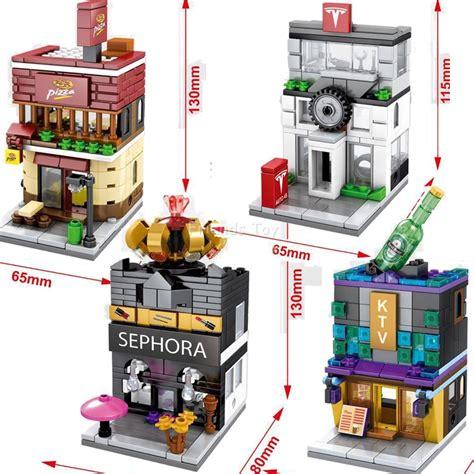 Lego Mini Block Loz Rumah Dunkin Donuts Store Mini 1606 popular parts shops buy cheap parts shops lots from china