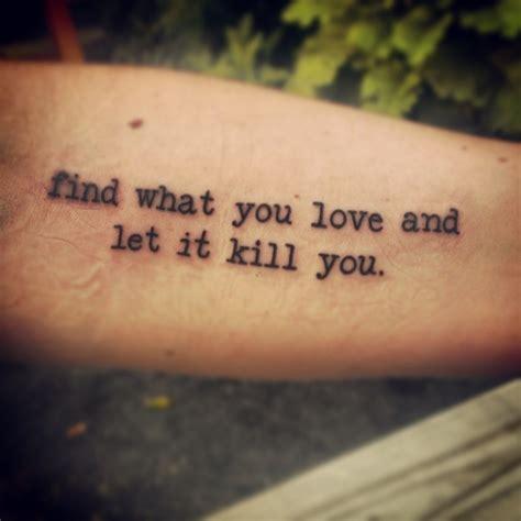 love kills tattoo meaning 27 tatuaggi ispirati ai libri per gli amanti della