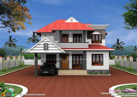 typical house design typical kerala home in 2500 sq ft kerala home design and floor plans