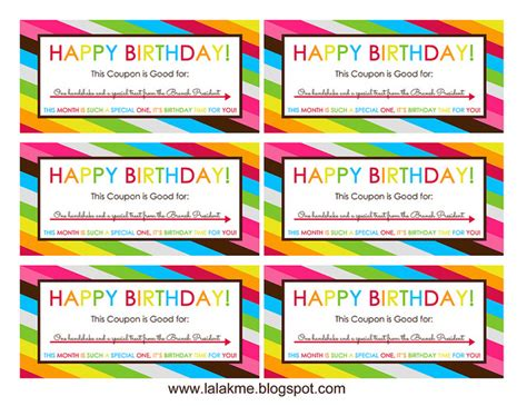 birthday coupon templates printable free printable birthday coupons overstuffed