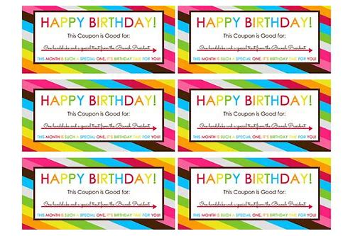 free printable happy birthday coupons