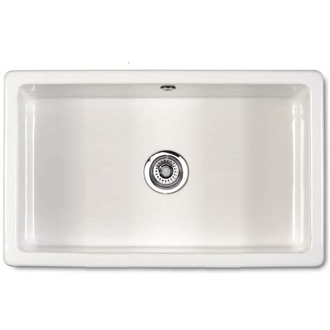 kitchen ceramic sinks shaws of darwen classic inset 760 inset or under mount