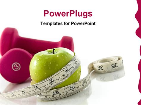 powerpoint templates free download healthy lifestyle powerpoint template small weights next to green apple