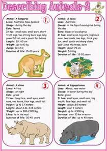 18 free esl describing animals worksheets