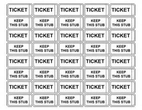Template For Raffle Tickets With Numbers by Printable Raffle Tickets With Numbers Make Your Own