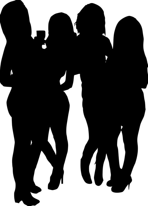8 Girl Group Photo Silhouette (PNG Transparent) | OnlyGFX.com