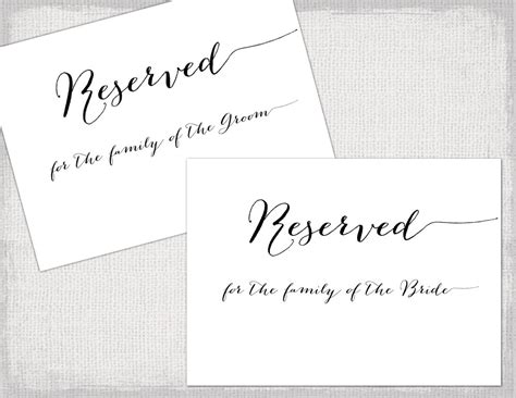 reserved seating signs template 30 images of reserved seating cards template leseriail
