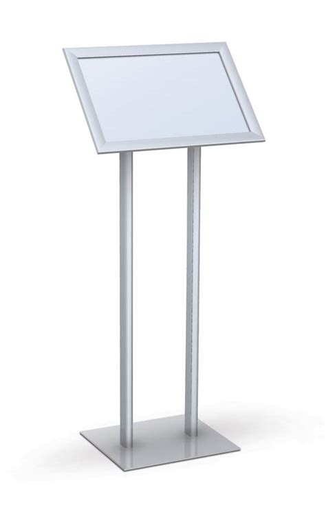 sign stands angled snapframe pedestal stands double pedestal base