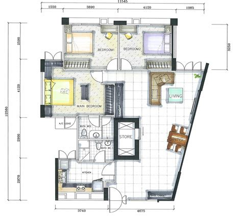 studio floor plan ideas architectures studio apartment floor plan render by