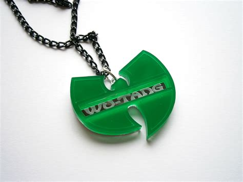 wu tang pendant laser cut and engraved hip hop necklace