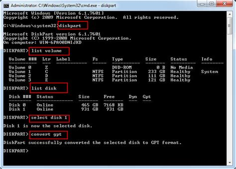 format gpt to mbr use diskpart to convert disk from mbr to gpt in windows 10 8 7