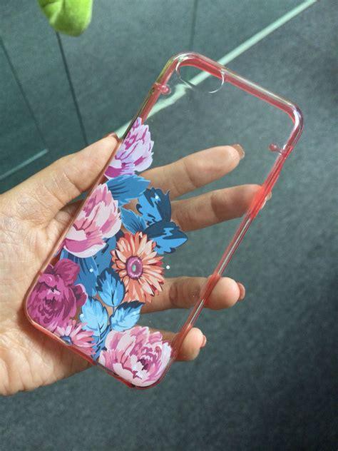 Soft 3d Sculpture Flower Black For Iphone 5 5s T0310 iphone 5c 5s 5 iphone 6 6 plus transparent vintage flower floral clear bumper