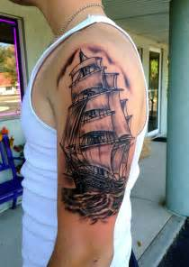 boat tattoos ship sleeve by diane lange at moonlight