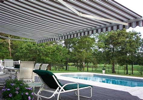 Modern Retractable Awning by Pool Side Retractable Awning Modern Patio New York