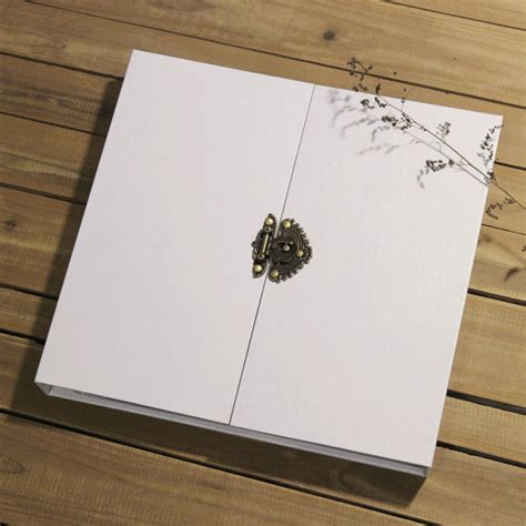 Handmade Wedding Scrapbook - 16 inch big wihte black handmade wedding photo albums