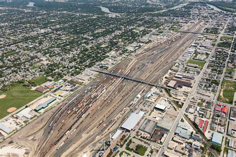 backyard auto winnipeg aerial photo cpr rail yard winnipeg