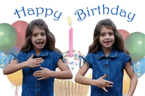 Happy Birthday Sign Language by American Sign Language Lenticular Moving Cards Greeting
