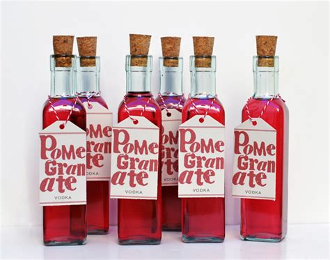 homemade holiday gift idea pomegranate vodka