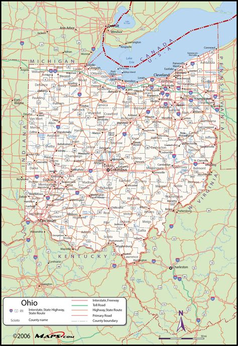 ohio map by county ohio county wall map maps