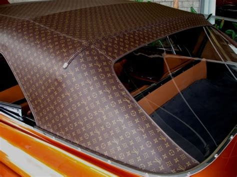 louis vuitton car upholstery louis vuitton themed cadillac looks like a huge vintage