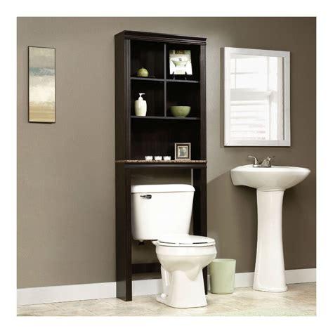 sauder bathroom storage sauder peppercorn etagere bath cabinet cinnamon cherry finish