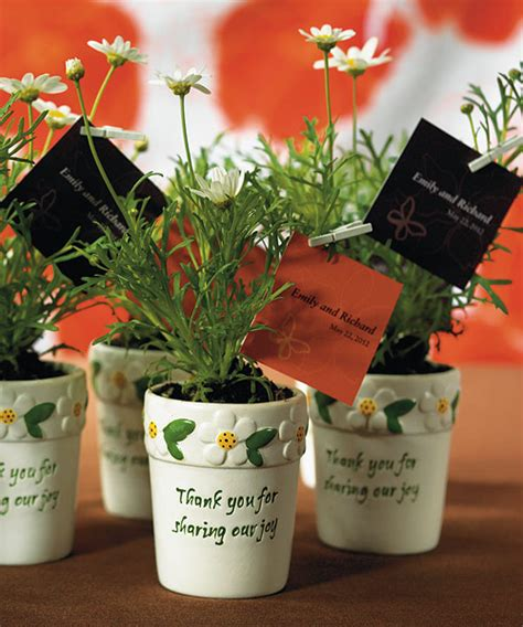 Garden Favors by Mini Garden Flower Pot Wedding Favors