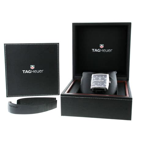 Tag Heuer Black Leather List tag heuer monaco ww2110 on leather black automatic