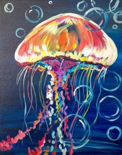 acrylic painting jellyfish 25 best ideas about fish paintings on fish