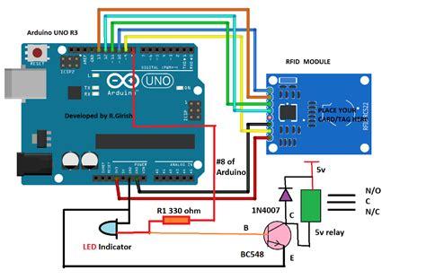 rfid security lock circuit using arduino